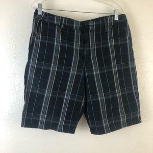 Quicksilver Plaid Shorts size 34
